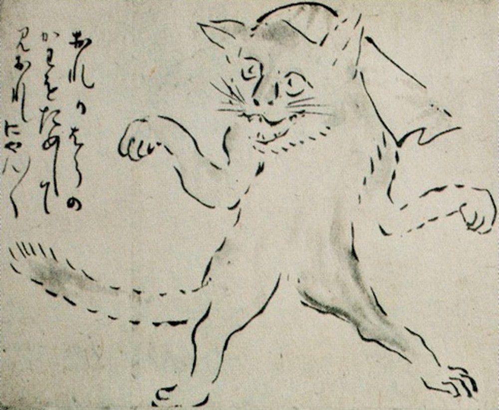 Tranh vẽ Bakeneko từ thời Edo