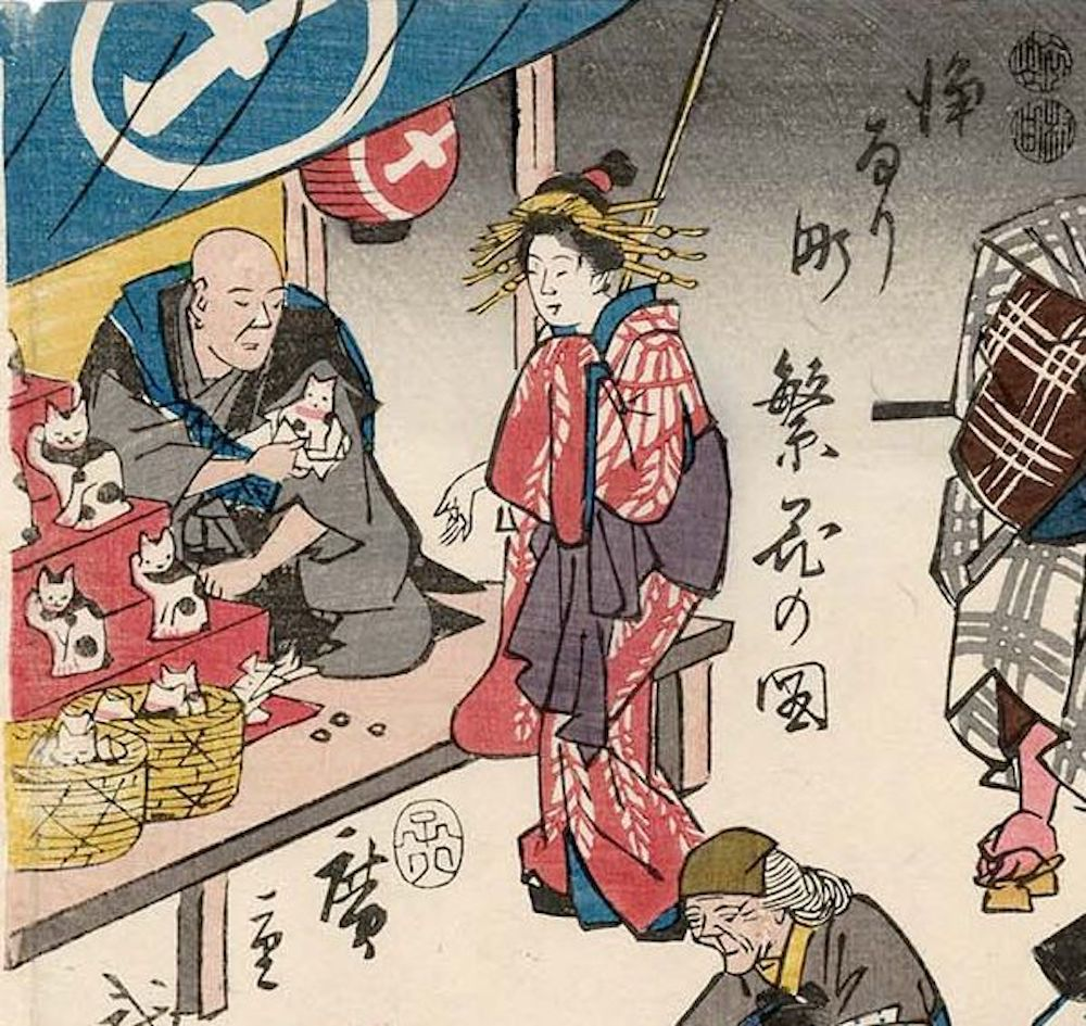 Mèo Maneki neko có lịch sử lâu đời tại Nhật Bản trước khi phổ biến ra khắp thế giới