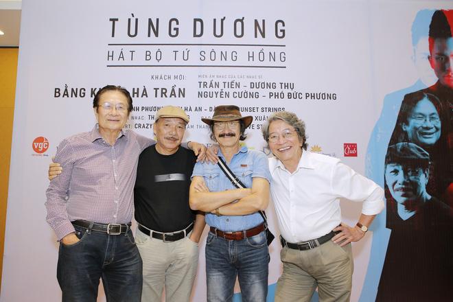 Bộ tứ sông hồng gồm: Phó Đức Phương, Nguyễn Cường, Trần Tiến và Dương Thụ (từ phải sang)