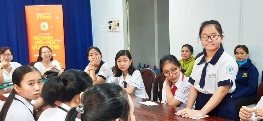 Em Lưu Thị Thư Kỳ kể chuyện những ngày vượt khó cùng các nữ sinh hiếu học H.Củ Chi sáng 20/9