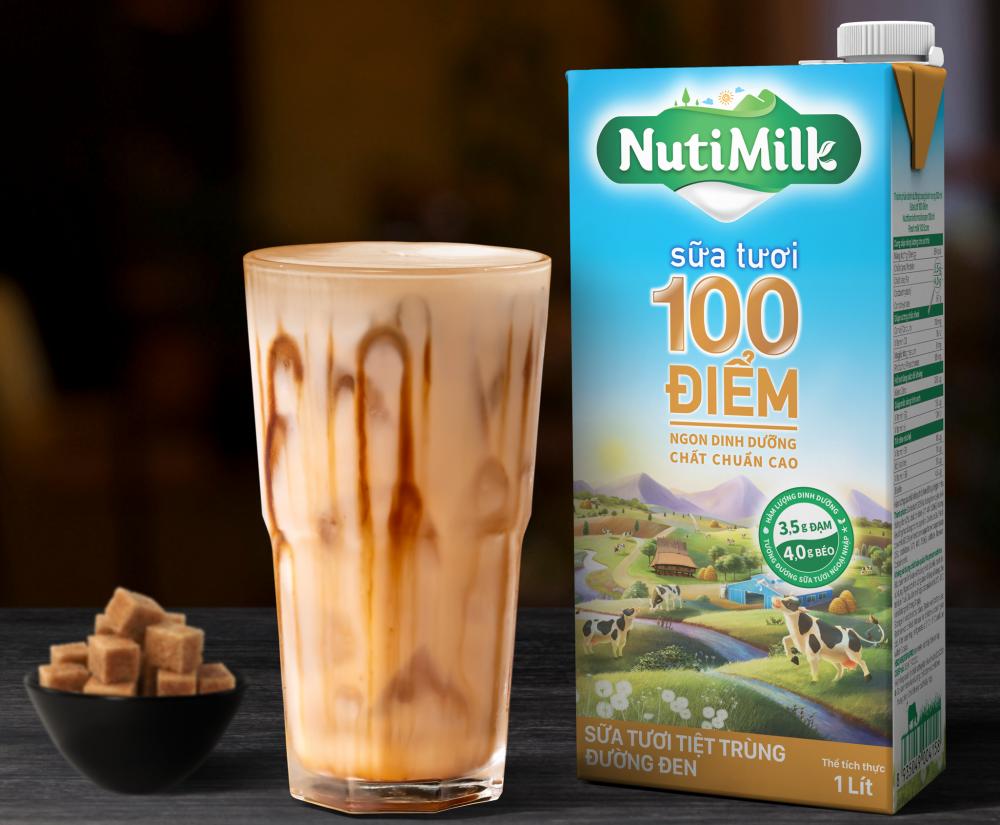 Sữa tươi 100 điểm NutiMilk đường đen
