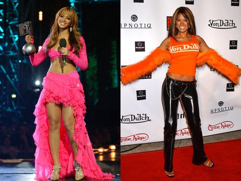 Năm 2003-2004, các cô gái đều đặc biệt yêu thích những chiếc áo croptop, áo sát nách ôm sát và mặc chúng để khoe vóc dáng.