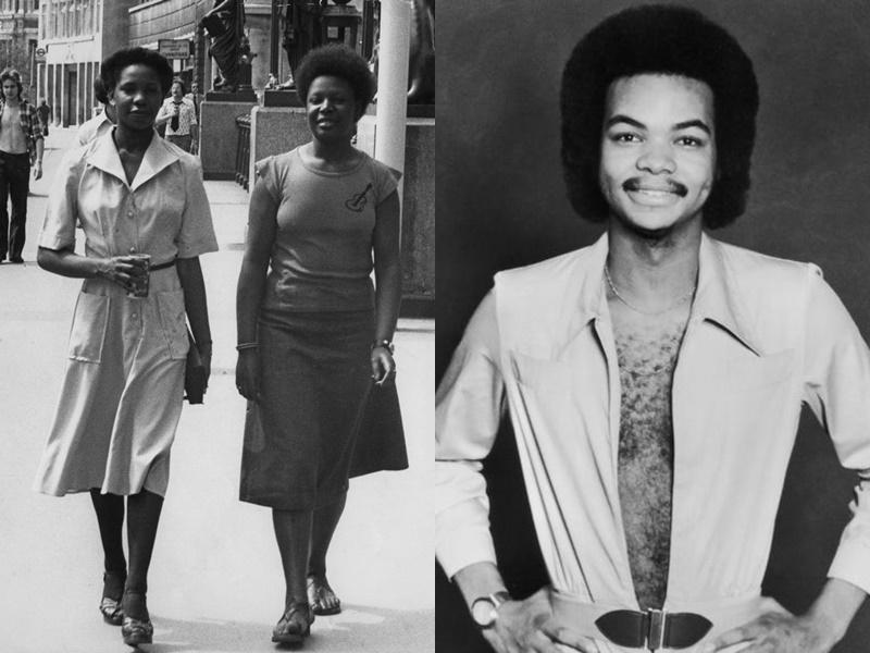 Năm 1976: Những chiếc váy cài cúc phía trước trở nên hợp thời trang.phong cách này bắt nguồn từ những năm 20, khi những chiếc cúc áo được may vào chiếc váy để trang trí.  Vào năm 1977, nam giới thường chỉ thắt nút dưới cùng của bộ vest và áo sơ mi.  Tương tự, phụ nữ cũng bị thu hút bởi những bộ bikini với đường viền cổ áo sâu vào thời điểm đó.