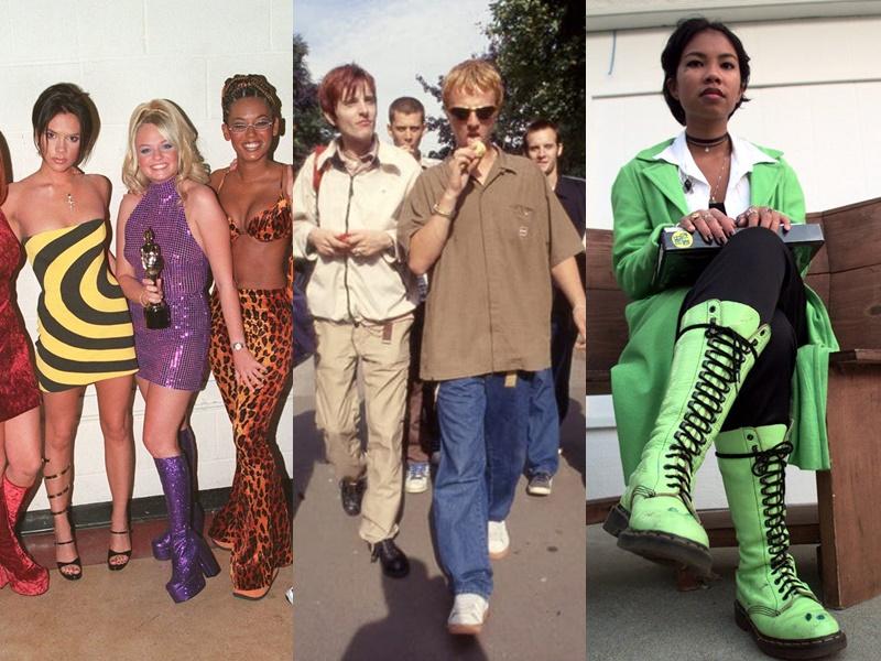 Năm 1995, mọi người bắt đầu từ bỏ những bộ quần áo toàn màu đen để theo đuổi phong cách color block với những bộ cánh đa sắc màu. Năm 1996, phong cách tối giản quay trở lại từ áo phông đến quần ống rộng được ưa chuộng nhờ vào sự thoải mái. Năm 1997, kiểu giày Dr.Marten với phần đế ''khủng'' được làm bằng da với nhiều màu sắc thu hút không ít các tín đồ thời trang.