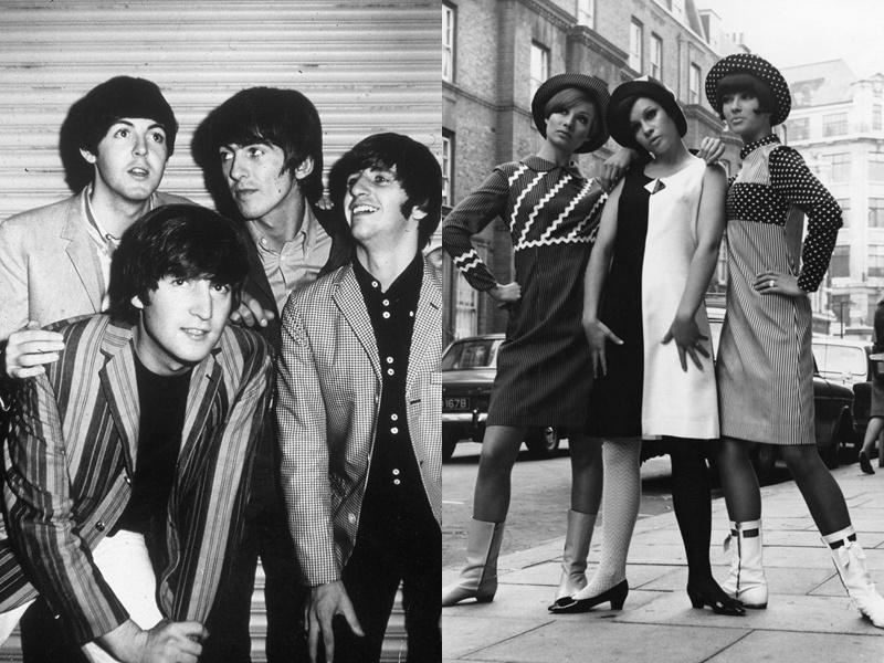 Năm 1965-1966: 1965: Xu hướng mod (chủ nghĩa hiện đại, là một tiểu văn hóa nổi tiếng với sự tập trung vào âm nhạc và phong cách) lan rộng từ Vương quốc Anh sang nhiều nơi trên thế giới. Phái mạnh thường mặc những bộ vest được thiết kế riêng mặc những bộ vest được thiết kế riêng. Phái đẹp mặc những bộ quần áo chấm bi, những chiếc váy đen trắng và những đôi bốt được lấy cảm hứng từ những thiết kế tinh giản