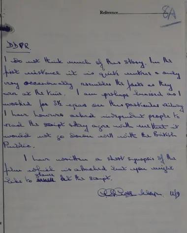 Bức thư của thiếu tá AG Close