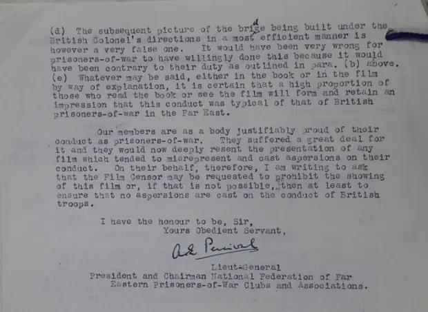 Bức thư của trung tướng
