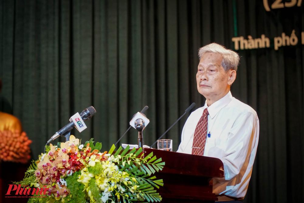 Ông Nguyễn Trọng Xuất - Phó Chủ tịch Thường trực CLB Truyền thống kháng chiến TPHCM kể lại những kỷ niệm về một giai đoạn lịch sử hào hùng của dân tộc