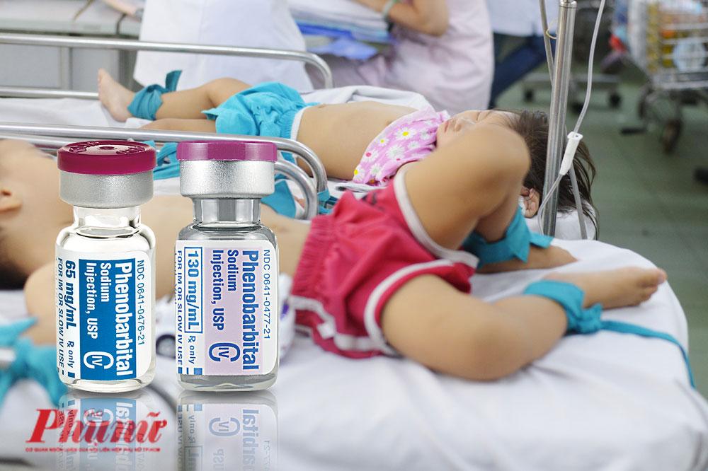 Thuốc chống co giật là vũ khí không thể thiếu được để các bác sĩ dập tắt ngay các cơn co giật khi trẻ em bị bệnh tay chân miệng cấp độ nặng. Ảnh: Hiếu Nguyễn