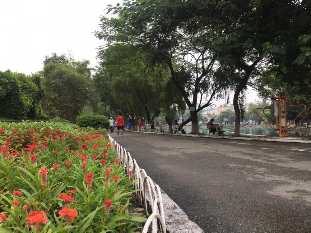 May mà còn có những công viên trong thành phố...