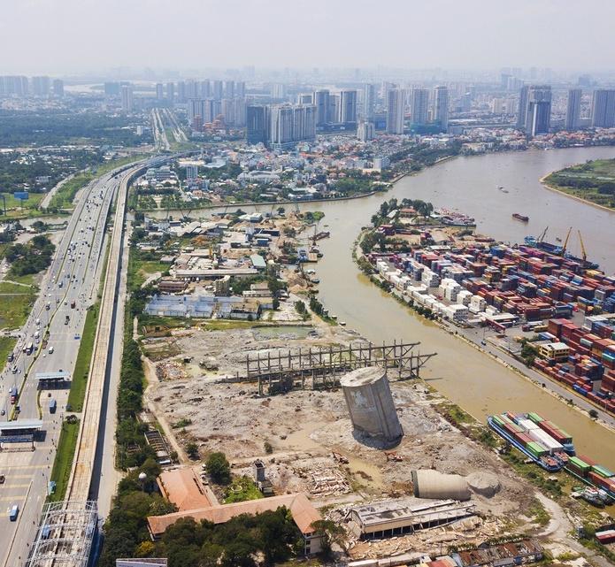 Cơ sở Xi mang Hà Tiên tại Xa Lộ Hà Nội đã tháo dỡ và di dời