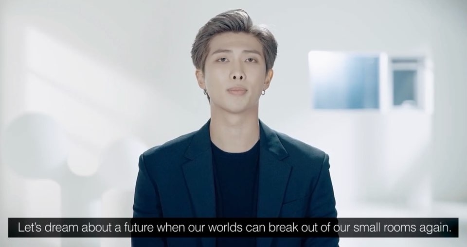 RM- trưởng nhóm BTS- truyền cảm hứng đến mọi người.