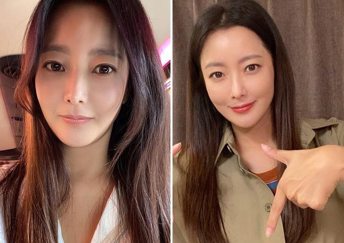 Cận cảnh gương mặt tưới trẻ của Kim Hee Sun