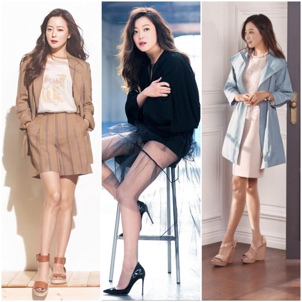 Là bà mẹ 2 con những Kim Hee Sun vẫn khiến khán giả trầm trộ nhờ vóc dáng mảnh mai.