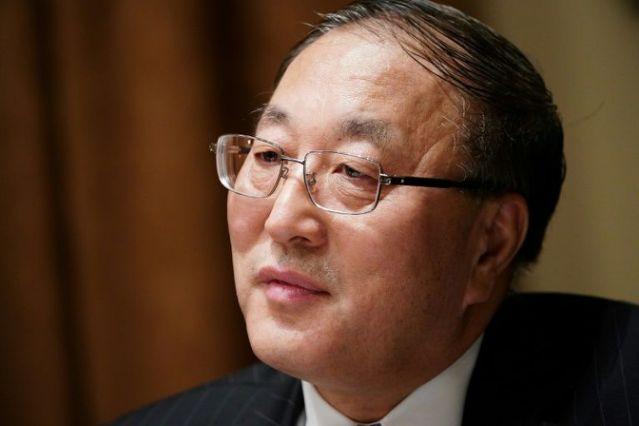 Đại sứ Trung Quốc tại Liên Hợp Quốc, Zhang Jun, đáp trả Mỹ tại Liên Hợp Quốc.