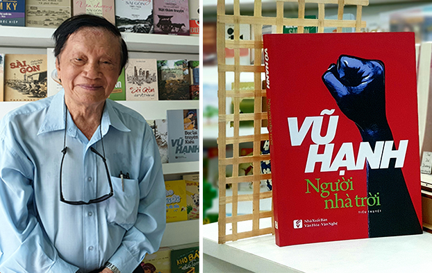 Nhà văn Vũ Hạnh và cuốn Người nhà trời vừa ra mắt.