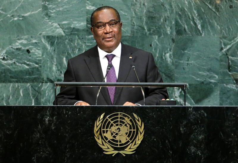Thủ tướng Togo Selom Komi Klassou phát biểu trước Đại hội đồng Liên hợp quốc năm 2017.