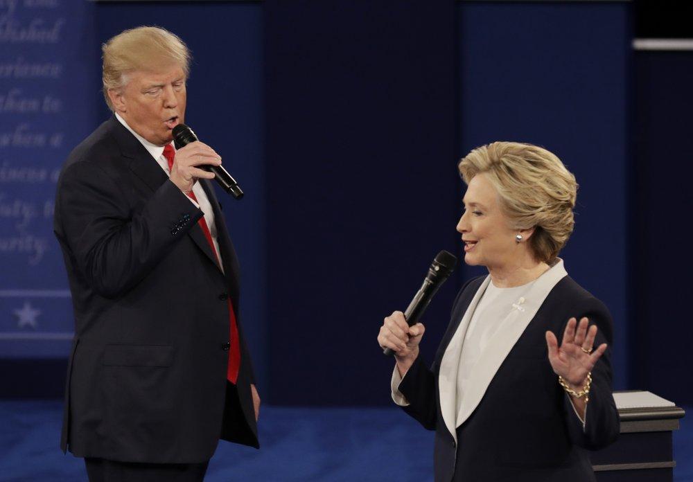 Những cuộc tranh luận giữa ông Trump và bà Clinton luôn gây ra nhiều kịch tính - Ảnh: Patrick Semansky/AP
