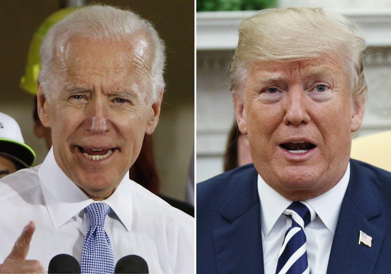Ông Trump và ông Biden sẽ gặp nhau trực tiếp trong buổi tranh luận lần đầu vào đầu tuần sau - Ảnh: AP
