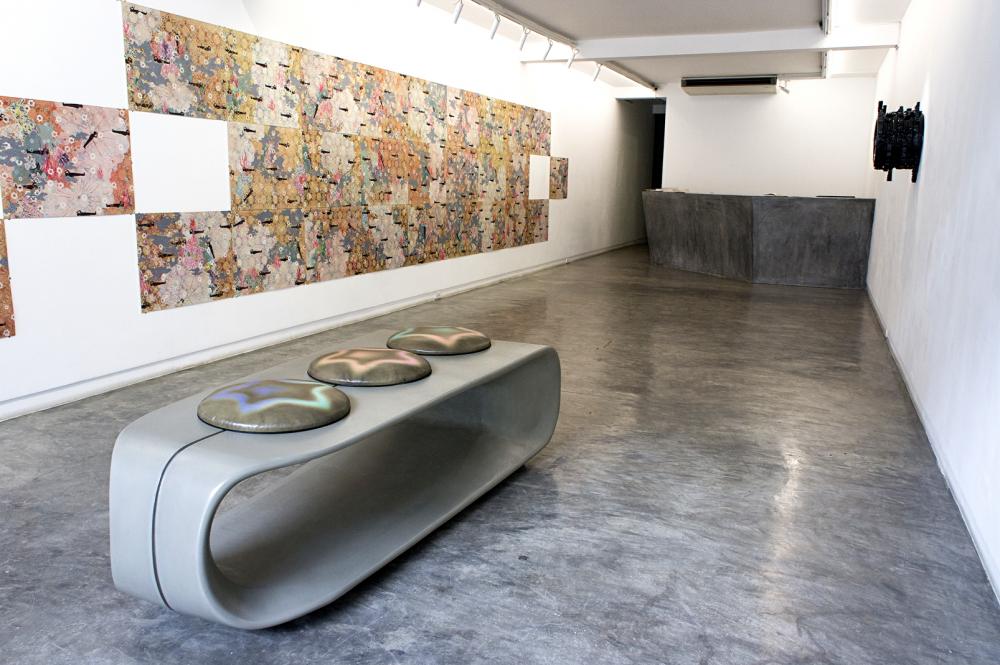 Một số tác phẩm tại triển lãm - Ảnh: GALERIE QUỲNH