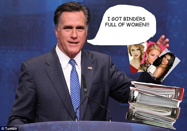 Trong cuộc tranh luận với ông Barack Obama, ông Mitt Romney đã bị công chúng chế giễu vì sự thiếu hiểu biết về Bình đẵng giới - Ảnh: Daily Mail