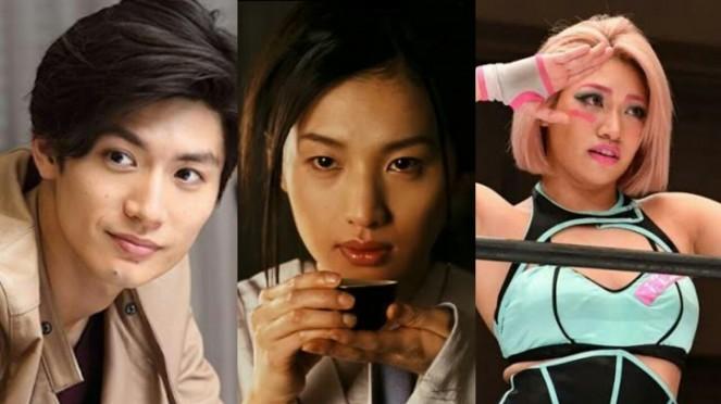 (Từ trái sang) Miura Haruma, Sei Ashina và Hana Kimura đều được phát hiện tử vong với các dấu hiệu của tự sát.