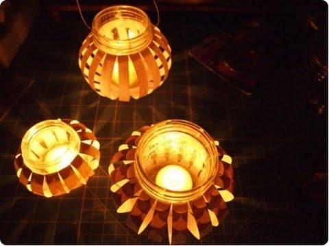 Những chiếc đèn tự chế lung linh trong ký ức. Ảnh: Internet