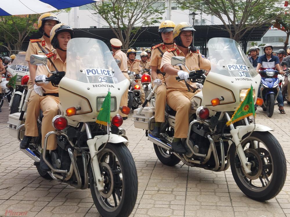 Các lực lượng của Công an TPHCM triển khai thực hiện cao điểm ngay sau lễ ra quân.