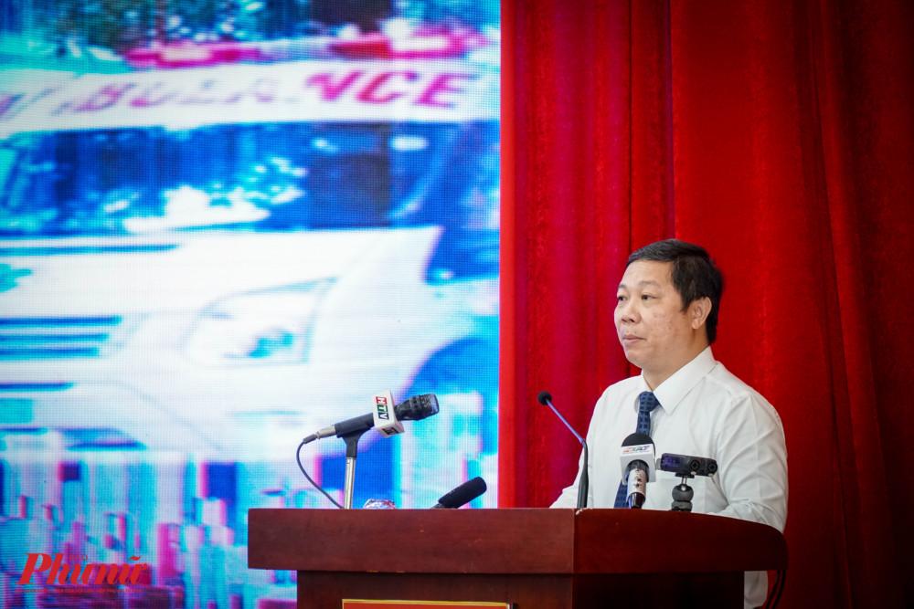 ông Dương Anh Đức – Phó Chủ tịch UBND Thành phố đề nghị Sở TTTT trực tiếp vận hành hệ thống, xây dựng và ban hành quy chế quản lý hoạt động, vận hành hệ thống nâng cấp tổng đài khẩn cấp liên thông 113 - 114 – 115.