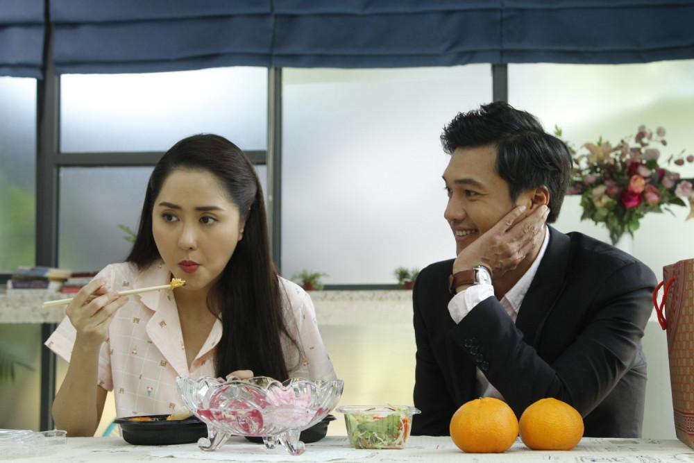 Diễn viên Tường Vy và Quang Tuấn đóng cặp trên phim.