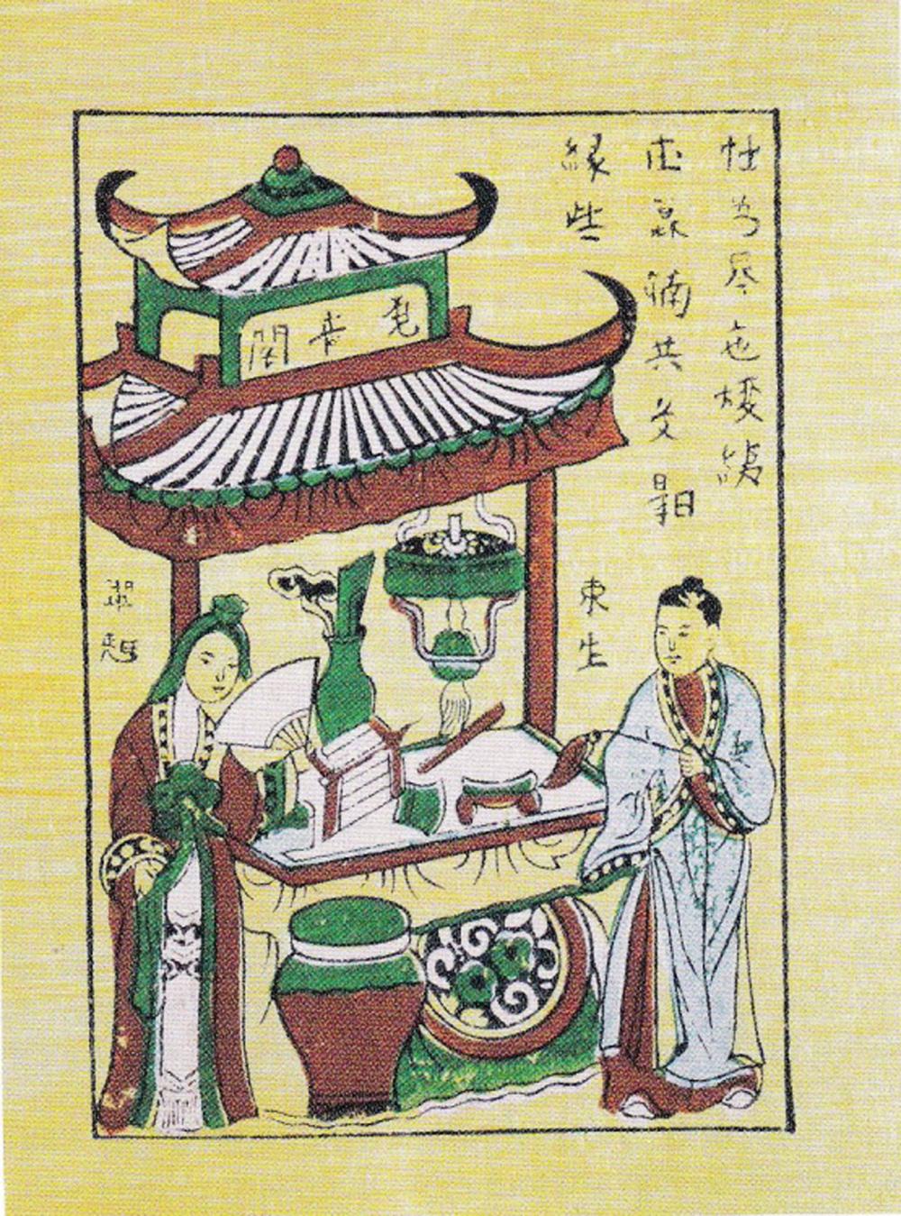 Ba bức trong bộ tranh Đông Hồ minh họa Truyện Kiều mà ông Pascal sưu tầm được