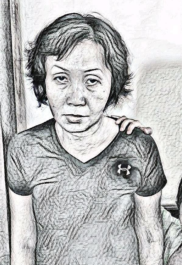 Chu Thúy An lúc bị bắt