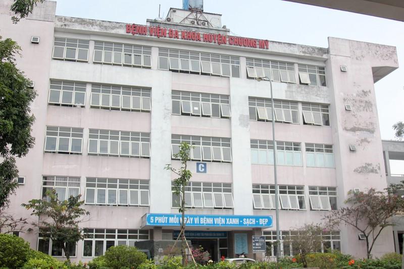 Bệnh viện Đa khoa huyện Chương Mỹ, nơi xảy ra vụ việc đau lòng