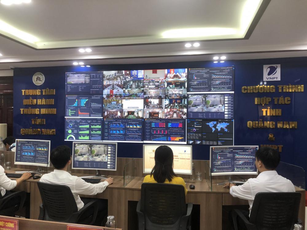 Trung tâm điều hành thông minh IOC Quảng Nam được thành lập nhằm phục vụ sự chỉ đạo, điều hành của Chính phủ một cách toàn diện các vấn đề kinh tế - xã hội.