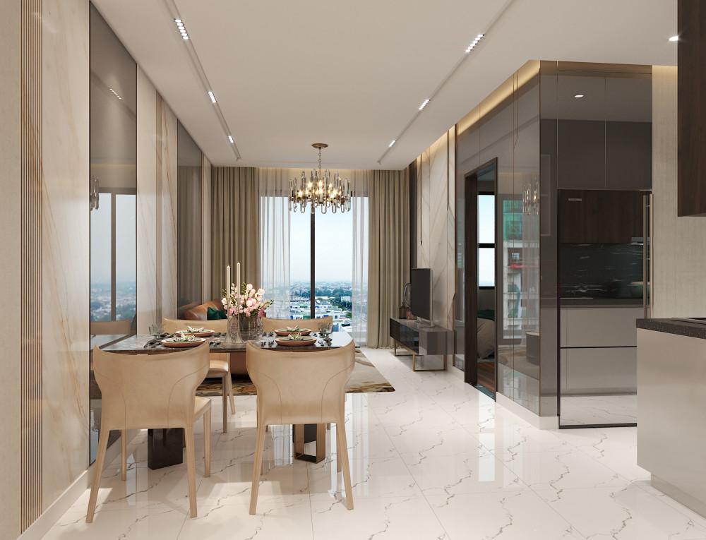 Opal Skyline được thiết kế tinh tế và tiện nghi, tạo không gian thoáng đãng và tràn ngập ánh sáng tự nhiên