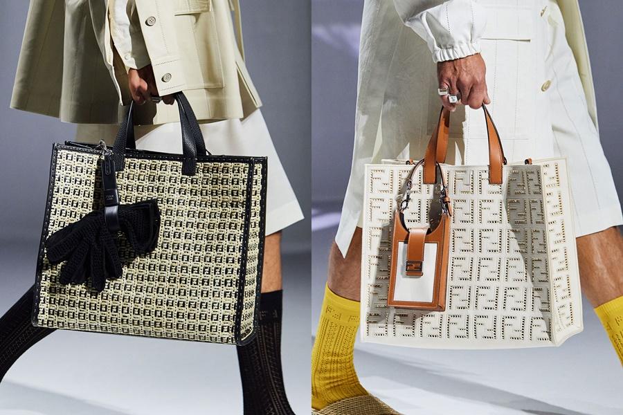 Túi tote đan móc to bản: