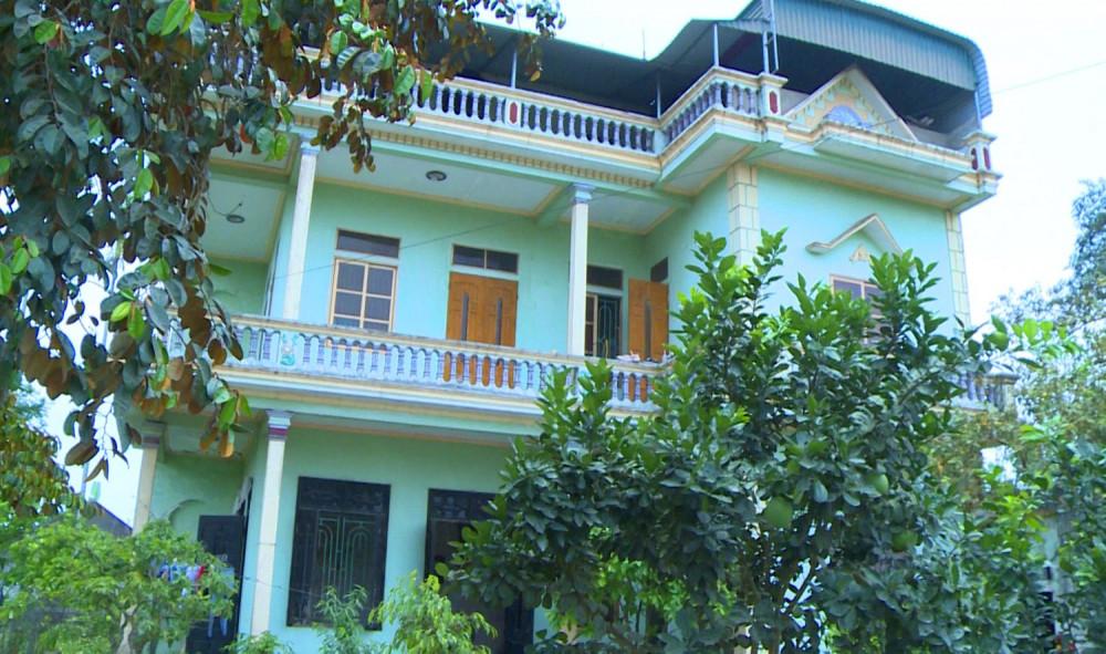Ngôi nhà 2 tầng được thuê làm nơi ăn, ở và giam lỏng các nhân viên phục vụ quán hát ở Thanh Hóa