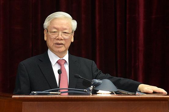 Tổng Bí thư, Chủ tịch nước Nguyễn Phú Trọng phát biểu tại Hội nghị - Ảnh: VGP/Nhật Bắc