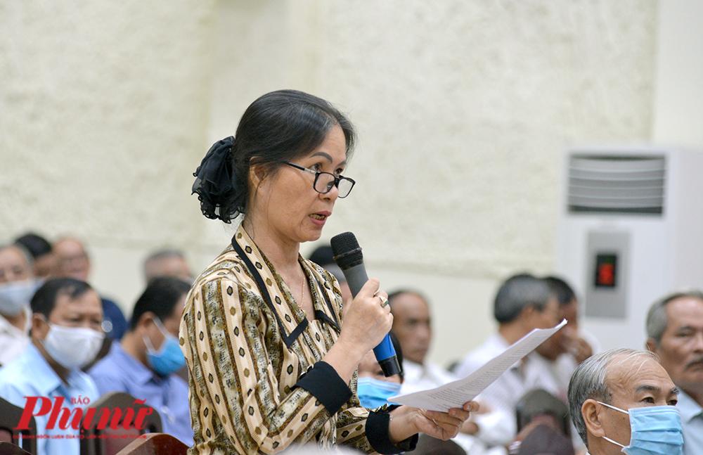 Cử tri Nguyễn Thị Dung, phường  Tăng Nhơn Phú A, quận 9