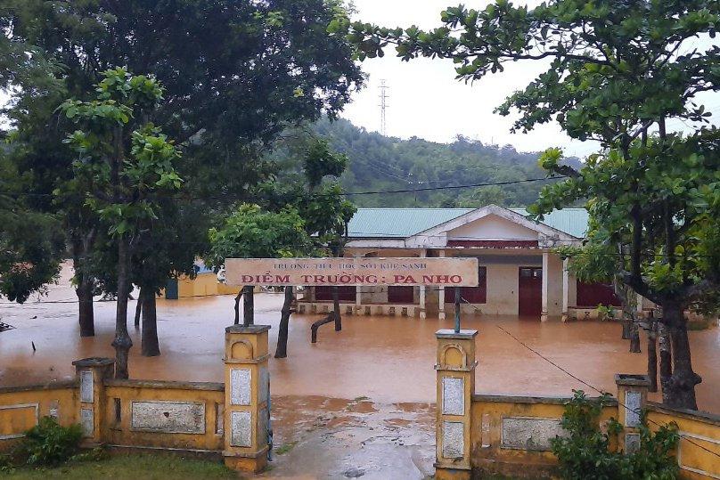 Điểm trường Pa Nho ngập trong nước lũ