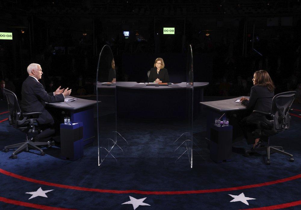 Khung cảnh phiên tranh luận phó Tổng thống Hoa Kỳ giữa Mike Pence và Kamala Harris