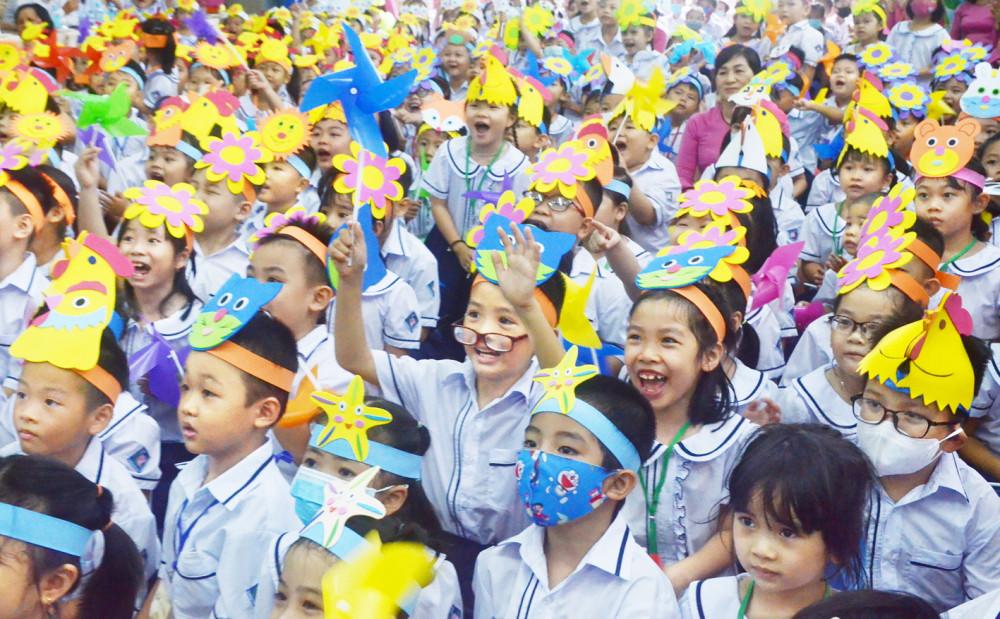 Điều lệ Trường tiểu học cho phép học sinh có thể lực tốt và phát triển sớm về trí tuệ được học vượt lớp trong phạm vi cấp học  Ảnh: Phùng Huy