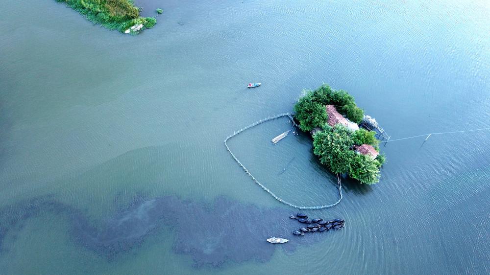 Ngôi nhà giữa sông Diêm Điền của ông Đa  và bà Thủy