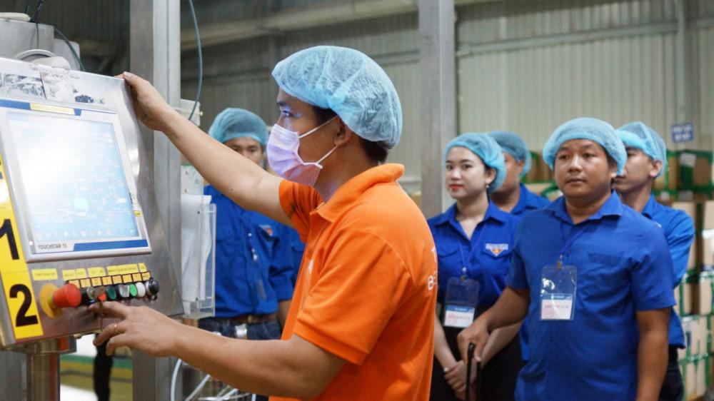 Hệ thống dây chuyền sản xuất cho công suất lên tới 48.000 chai sản phẩm/giờ/dây chuyền tại nhà máy. Ảnh: THP cung cấp