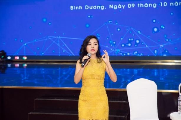 Phó tổng giám đốc Trần Uyên Phương trong buổi giao lưu cùng đoàn đại biểu lớp tập huấn chuyển giao khoa học công nghệ khu vực Đông Nam Bộ năm 2020. Ảnh: THP cung cấp