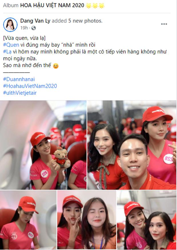 Chia sẻ của Đặng Vân Ly trên trang Facebook cá nhân sau chuyến bay. Ảnh: Facebook nhân vật