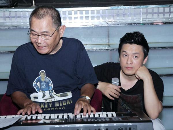 Nhạc sĩ Bảo Chấn và ca sĩ Lam Trường tại một sự kiện âm nhạc.