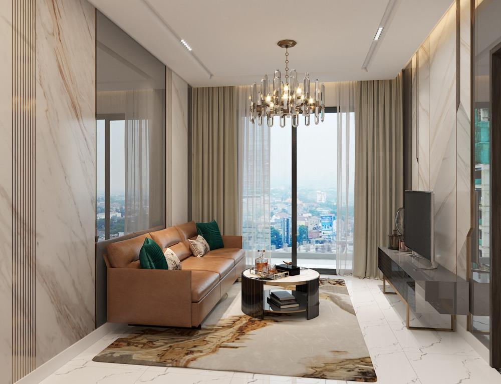 Diện tích lớn, căn hộ 3 phòng ngủ của Opal Skyline mang đến không gian sinh hoạt chung thoáng đạt và rộng rãi