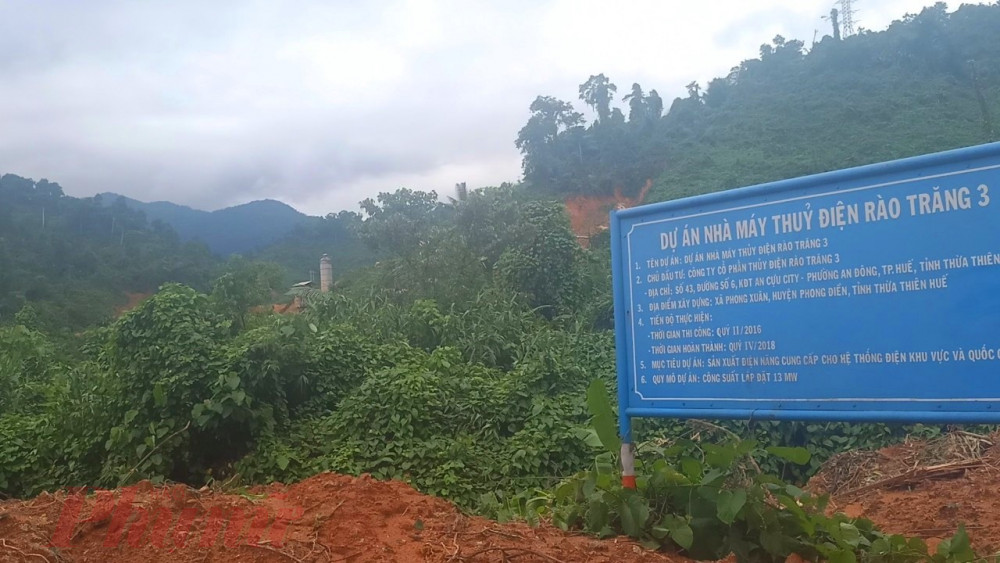 Toàn bộ khu vực sạt lở ở thủy điện Rào Trăng 3 trải dài gần 1km