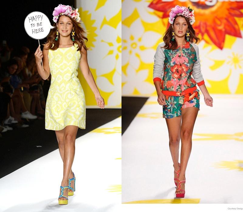 Isabella Khair Hadid (tên thật của Bella Hadid) bắt đầu kí hợp đồng với công ty quản lý người mẫu IMG từ năm 2014. Cùng năm đó, Bella lần đầu ra mắt tại New York Fashion Week trong show diễn của nhà mốt Desigual.